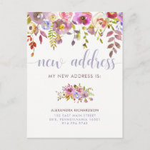 Beautiful Floral | New Address Announcement Postcard