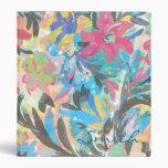 Beautiful  floral paint watercolours pattern vinyl binders