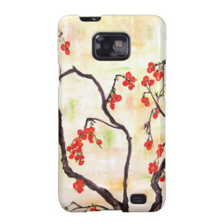 Beautiful Floral Painting cherry blossoms flower Samsung Galaxy S2 Covers