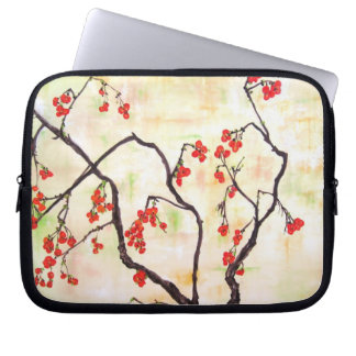 Beautiful Floral Painting cherry blossoms flower Computer Sleeve