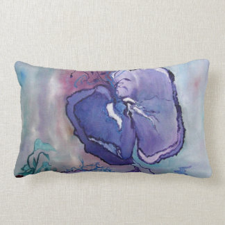 Beautiful Floral Painting of a amapola flower. Pillow