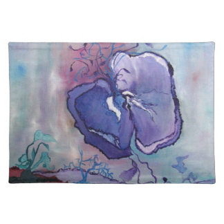 Beautiful Floral Painting of a amapola flower. Place Mats