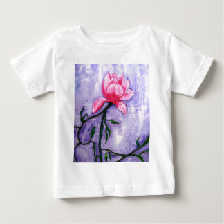 Beautiful Floral Painting of a rose flower. Baby T-Shirt