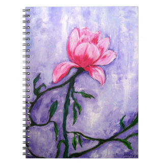 Beautiful Floral Painting of a rose flower. Spiral Notebook