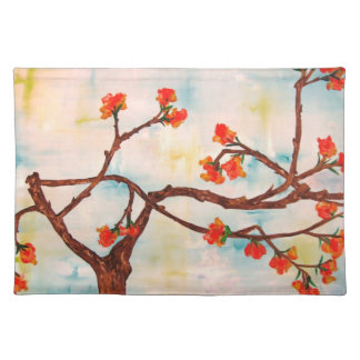 Beautiful Floral Painting of Blooms. Place Mat