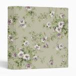 Beautiful floral pattern 3 ring binder
