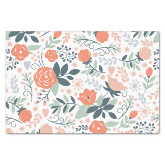 """Beautiful Floral Pattern Girly 10"""" X 15"""" Tissue Paper"""