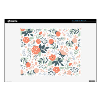 """Beautiful Floral Pattern Girly 12"""" Laptop Decal"""