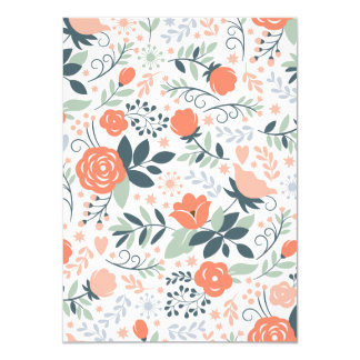 Beautiful Floral Pattern Girly Card