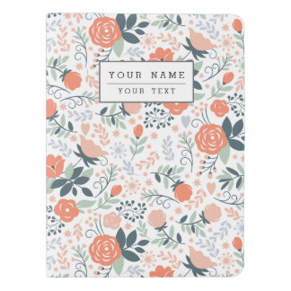 Beautiful Floral Pattern Girly Extra Large Moleskine Notebook Cover With Notebook