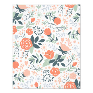 Beautiful Floral Pattern Girly Flyer