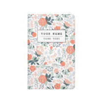 Beautiful Floral Pattern Girly Journal