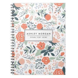 Beautiful Floral Pattern Girly Note Book
