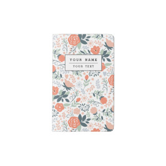 Beautiful Floral Pattern Girly Pocket Moleskine Notebook Cover With Notebook