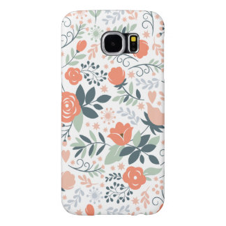 Beautiful Floral Pattern Girly Samsung Galaxy S6 Case