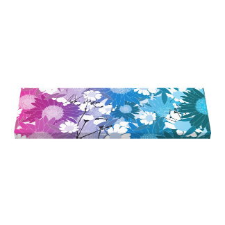 Beautiful Floral Patterned Any Direction Canvas