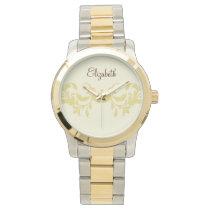 Beautiful  floral personalized design wrist watch