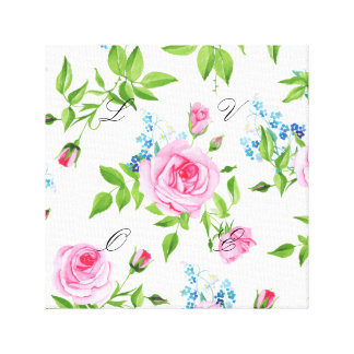 Beautiful,floral,pink,pattern,girly,trendy,chic, Canvas Print