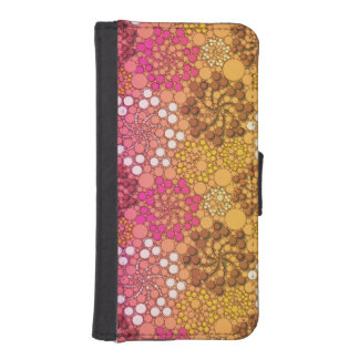 Beautiful Floral Pink White abstract Wallet Phone Case For iPhone SE/5/5s