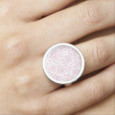 Wedding Themed beautiful, floral.pink,white,peonies,girly,feminin ring