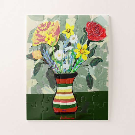 Beautiful Floral Spreading Hope Jigsaw Puzzle