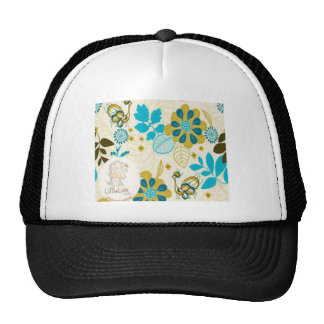 Beautiful floral swirls design trucker hat