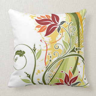 Beautiful floral swirls throw pillow