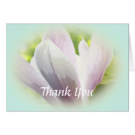 beautiful floral thank you card. greeting cards