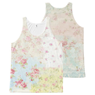 Beautiful Floral Vintage Illustration All-Over Print Tank Top