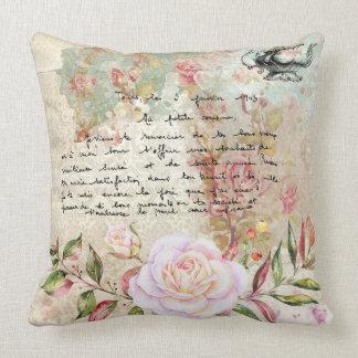 Beautiful Floral Vintage Illustration Pillow