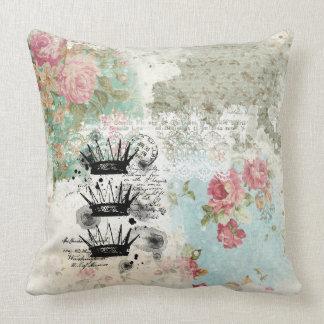 Beautiful Floral Vintage Illustration Throw Pillow