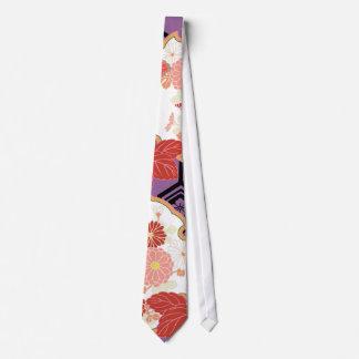Beautiful Floral Vintage Japanese Pattern Neck Tie