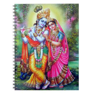 Beautiful Floral Vintage Krishna Radha Note Book