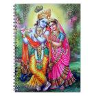 Beautiful Floral Vintage Krishna Radha Notebook