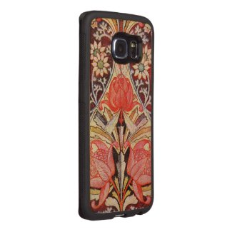 Beautiful Floral Vintage Wallpaper Wood Phone Case
