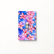 Beautiful Floral Watercolour Light Switch Cover