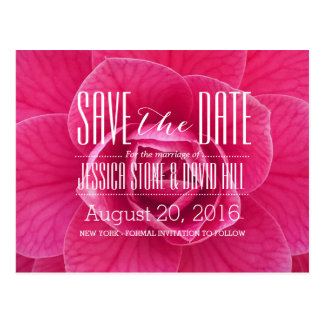 Beautiful Floral Wedding Save the Date Postcard