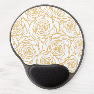 beautiful, floral.yellow,white,peonies,girly,moder gel mouse pad