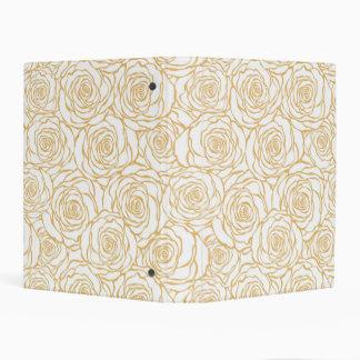 beautiful, floral.yellow,white,peonies,girly,moder mini binder