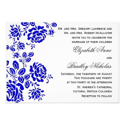 Royal Blue Wedding Invitation Templates Royal Blue Wedding Invitations