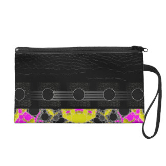 Beautiful Florescent Fancy Abstract Wristlet Clutch