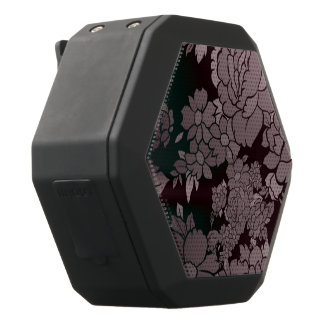 Beautiful Florescent Floral Pattern Black Bluetooth Speaker
