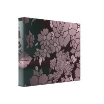 Beautiful Florescent Floral Pattern Canvas Print