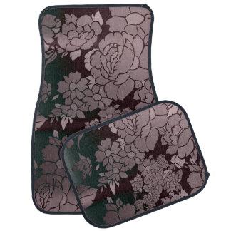 Beautiful Florescent Floral Pattern Car Mat