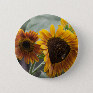 Beautiful Florida Sunflowers Pinback Button