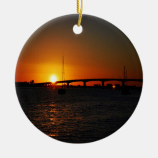 Beautiful  Florida Sunset Ceramic Ornament
