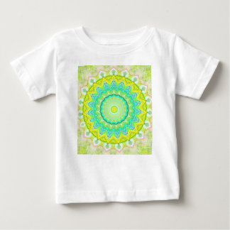 Beautiful Flourescent Pastel Vibrant Mandala Baby T-Shirt