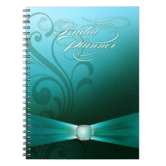 Beautiful Flourish Wedding Planner | teal Note Book