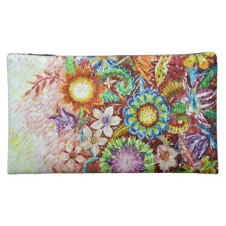 Beautiful Flower Abstract Art Cosmetic Bag