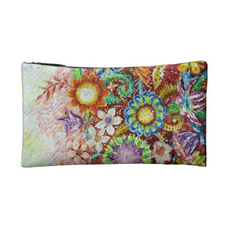 Beautiful Flower Abstract Art Small Cosmetic Bag
